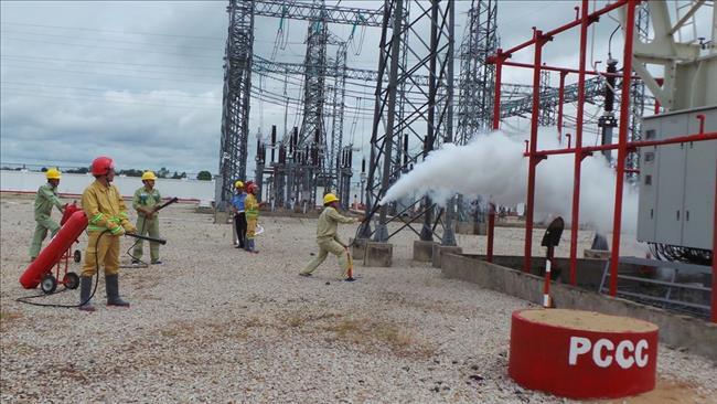Thực tập phương án PCCC & CNCH trạm 220kV Châu Đốc