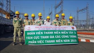 Thanh niên đồng hành với công trình SCL 2019 của trạm 220kV Châu Đốc