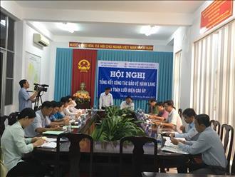 Hội nghị tổng kết công tác bảo vệ an toàn hệ thống lưới điện truyền tải tại UBND huyện Tân Hiệp, tỉnh Kiên Giang.