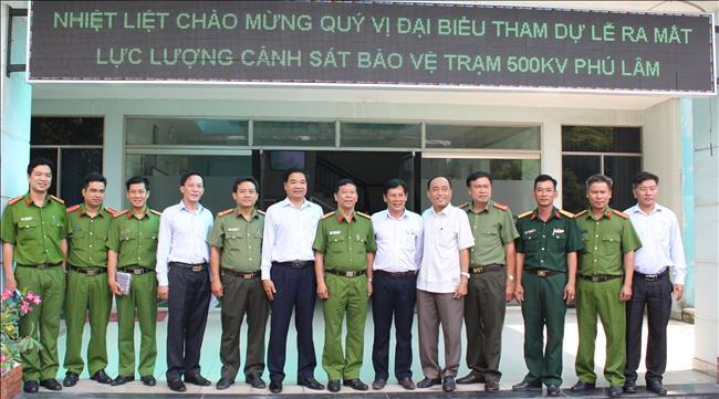 Lễ ra mắt lực lượng Cảnh sát bảo vệ Trạm biến áp 500kV Phú Lâm