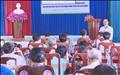 Đội TTĐ Đồng Xoài tuyên truyền bảo vệ hành lang lưới điện cao áp  trên địa bàn xã Đồng Tiến.