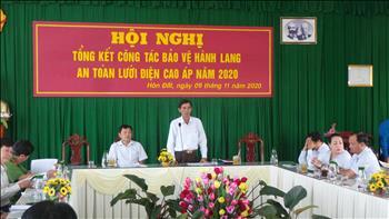 Truyền tải điện Miền Tây 3 tổng kết công tác bảo vệ hành lang an toàn lưới Truyền tải năm 2020 trên địa bàn huyện Hòn Đất, tỉnh Kiên Giang