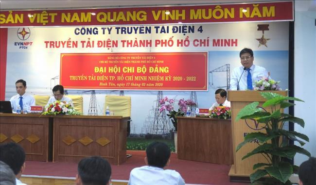 Truyền tải điện Thành phố Hồ Chí Minh  tổ chức Đại hội chi bộ nhiệm kỳ 2020 - 2022