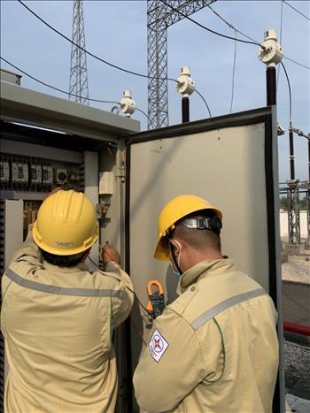 """Công trình Thanh niên """"Sơn hệ thống phòng cháy chữa cháy toàn trạm và thực hiện kiểm tra điện trở sưởi trước mùa mưa Trạm 220kV Châu Đốc 2"""