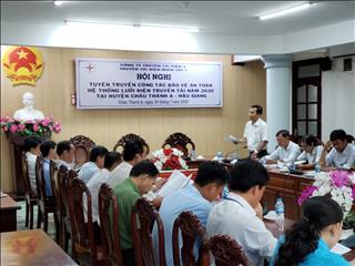 Hội nghị công tác bảo vệ hành lang an toàn lưới điện cao áp tại huyện Châu Thành A.