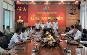 Chi bộ Truyền tải điện Miền Đông 1 tổ chức kết nạp đảng viên và công nhận đảng viên chính thức