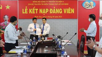 Chi bộ Truyền tải điện Thành phố Hồ Chí Minh  tổ chức Lễ kết nạp Đảng viên mới và sinh hoạt định kỳ tháng 5/2021