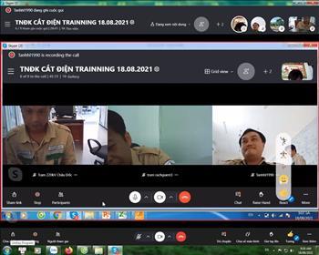 Chi đoàn TTĐ miền Tây 3 tổ chức bồi huấn trực tuyến trong thời gian thực hiện giãn cách xã hội để phòng chống dịch Covid-19.