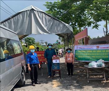 Đoàn Thanh niên, Công đoàn Truyền tải điện miền Tây 2 chung tay với cộng đồng trong công cuộc phòng, chống dịch bệnh Covid-19.
