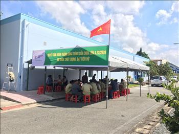 Thăm hỏi, ủy lạo công trường tại trạm 220kV Ô Môn 2 công trình A.22/2020