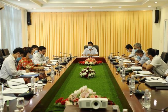 Ban Thường vụ Đảng ủy làm việc định kỳ với Ban Chấp hành Công đoàn Công ty năm 2020.